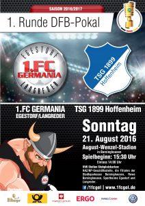 160802 - Plakat DFB Pokal TSG